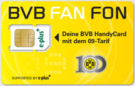 BVB FAN FON Karte